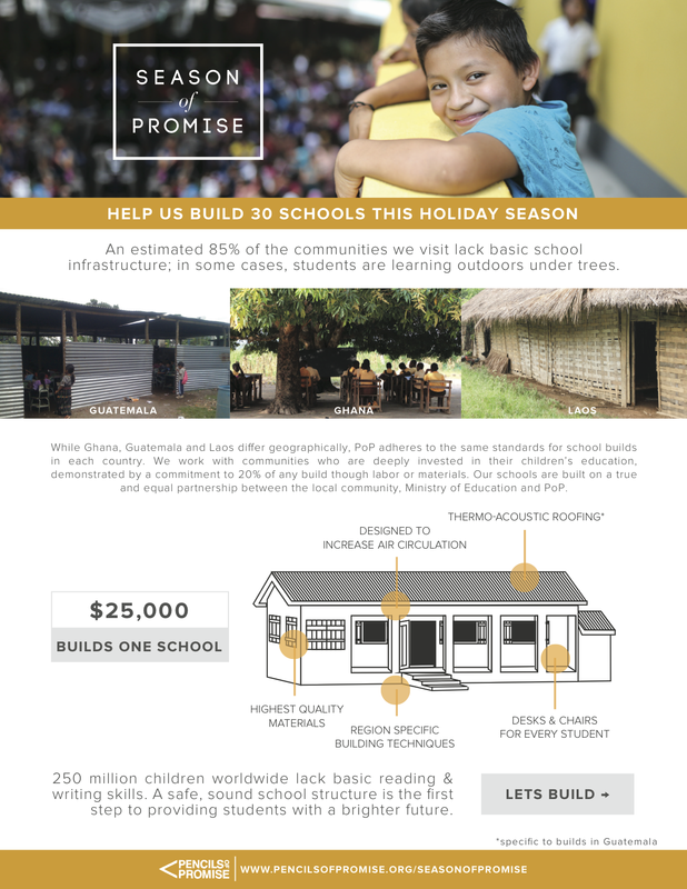 Pencils of Promise Season of Promise